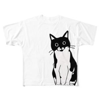 100nyans031.moanacat(mono) Full graphic T-shirts
