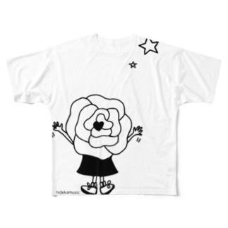 """夢見る""""のうちゃん"""" Full graphic T-shirts"""
