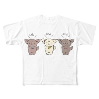 ちわとりお Full graphic T-shirts