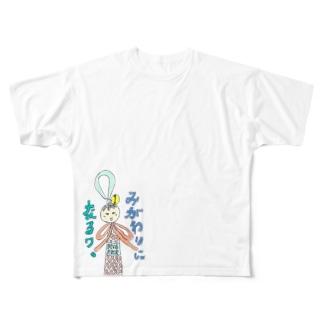 みがわりちゃん Full graphic T-shirts