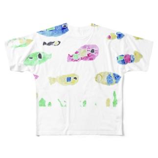 さかな Full graphic T-shirts
