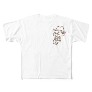 待機園長シリーズ (カウボーイ) Full graphic T-shirts