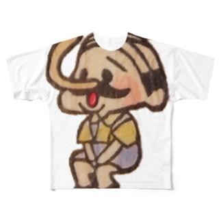 待機園長シリーズ(ピノキオ) Full graphic T-shirts