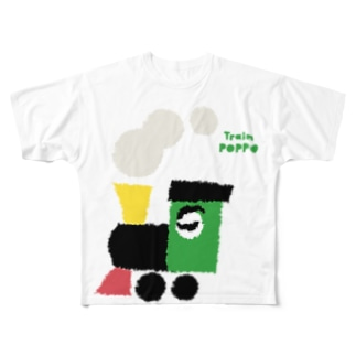 HANDSOME TRAIN Full graphic T-shirts