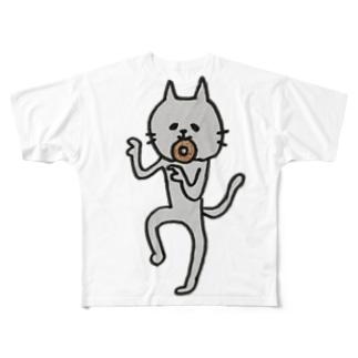 nyartのバカ丸だし Full graphic T-shirts