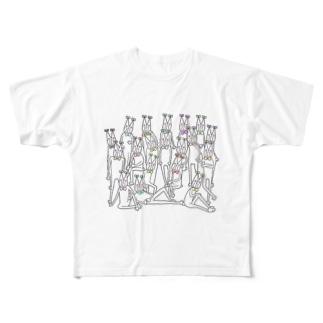 ねこざいる All-Over Print T-Shirt