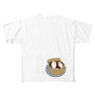 チャーシュー花巻 Full graphic T-shirts