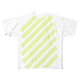 suzuri_fullgraphicT-template-XL_slash_lime_yellow_pale Full graphic T-shirts
