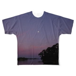 松島の月 心にかかりて Full graphic T-shirts