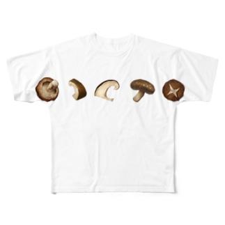 椎茸ズ Full graphic T-shirts