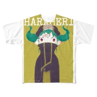 きょんしぃ的ライフ Full graphic T-shirts