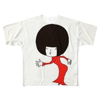 マドモアゼル リン Full graphic T-shirts
