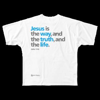 一羽のすずめのJesus Is Full graphic T-shirts