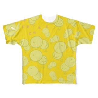 オピーヌがいっぱい!ひよこの大群グッズ Full graphic T-shirts
