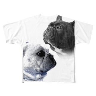 funnyfrenchTシャツ Full graphic T-shirts