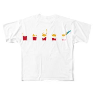 フライドポテト Full graphic T-shirts