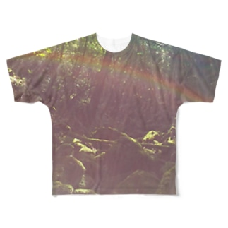 森と虹 Full graphic T-shirts