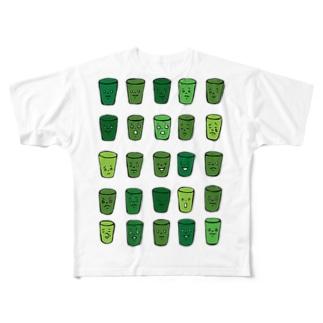 sayaka yamamotoのWe love aojiru Full graphic T-shirts