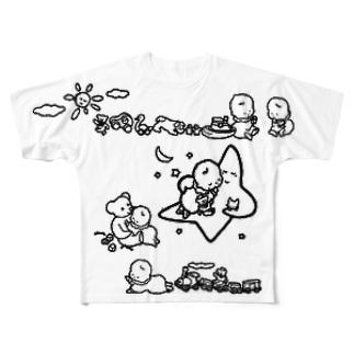 「こどもごころのぽぉけっと。」FGTS16 Full graphic T-shirts