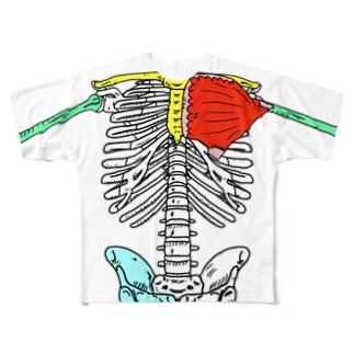 カラフルな骨格 Full graphic T-shirts