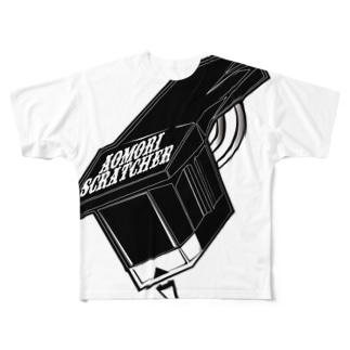 M445丁目 Black Logo Full graphic T-shirts