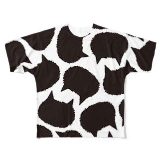 猫の牛柄?  Full graphic T-shirts