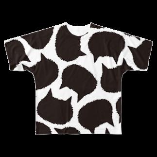 Yoshisyanの猫の牛柄?  Full graphic T-shirts