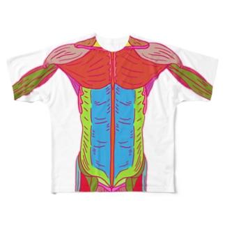 うっとり筋肉 Full graphic T-shirts