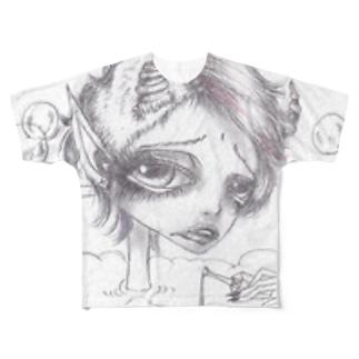 悪魔の入浴 フルグラフィックTシャツ