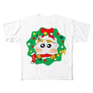 みーこのクリスマス Full graphic T-shirts