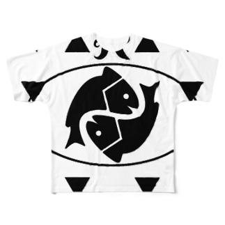 魚座 Pisces Full graphic T-shirts