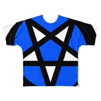 Devil star Full graphic T-shirts