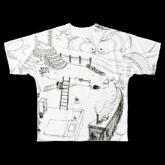 ちゃっかりのランランルー Full graphic T-shirts