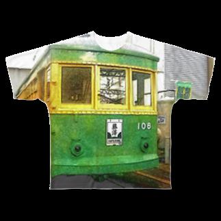 アズペイントの江ノ島電鉄 Full graphic T-shirts
