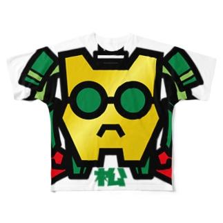 パ紋No.2839 松 Full graphic T-shirts
