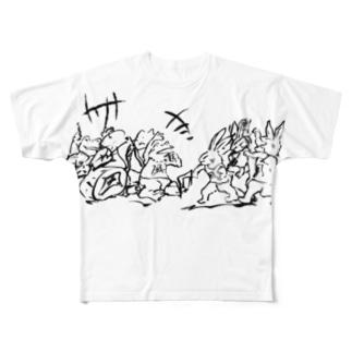 先祖代々 Full graphic T-shirts