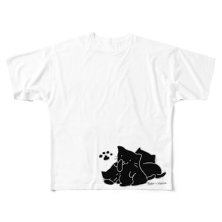 シンプルにゃん Full graphic T-shirts