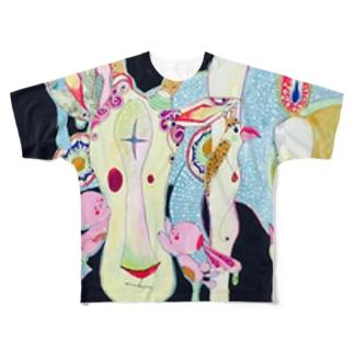 祈り Full graphic T-shirts