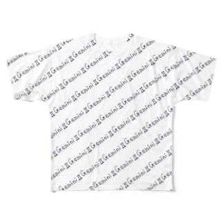 12sign_双子座♊_□ Full graphic T-shirts