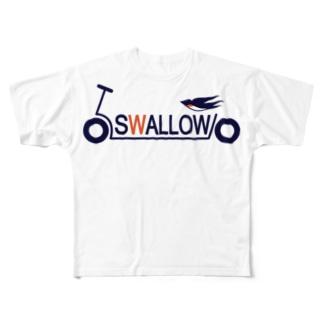 キックボード風スワローロゴ Full graphic T-shirts