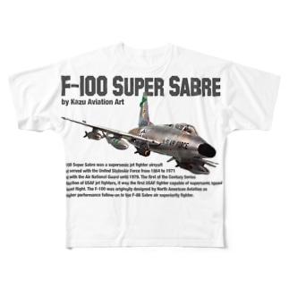 F-100 スーパーセイバー Full graphic T-shirts