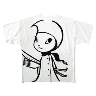 Pixlast(Rutie〈ルティ〉)ごはんができたよver. Full graphic T-shirts