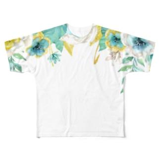 花柄 Full graphic T-shirts