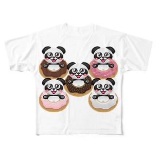 ドーナツパンダ☆ Full graphic T-shirts