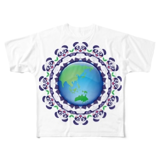 エコロジー☆パンダちゃん Full graphic T-shirts