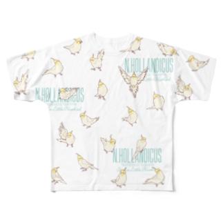 オカメルチノーフルグラT Full graphic T-shirts