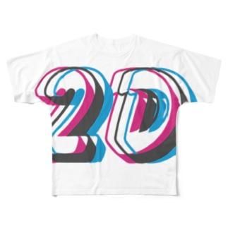 アナグリフ2D Full graphic T-shirts