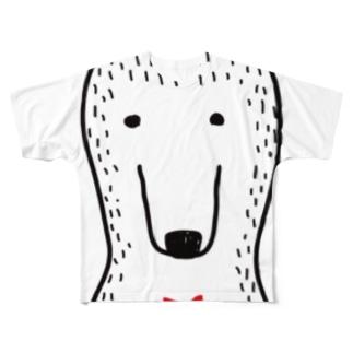 ブツブツなクマさん Full graphic T-shirts