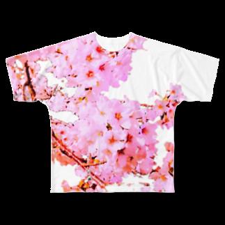 まりくそアンテナSHOPのsakuraちゃん Full graphic T-shirts