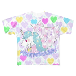 MELTY SUGAR POPユニコーン Full graphic T-shirts